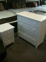 Tallboy white 4 drawers
