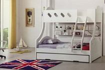 Double / Single bunk white with trundle NEW