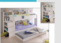 Single bunk with Loads of storage with trundle MADE IN FRANCE NEW DESIGN LOW EMISSION