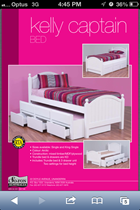 kING SINGLE BED with king single Trundle bed  white with Drawers NEW