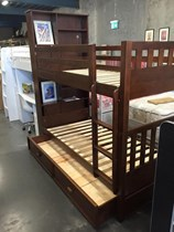Single bunk with storage Timber with trundle NEW DESIGN