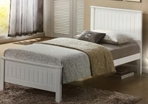 King single bed in white or choc NEW DESIGN