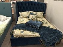 Queen Bed fabric Australian made bed NEW