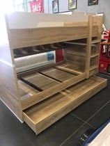 single bunk with trundle plus shelf very solid New Design