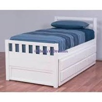 Trundle  Single bed WALNUTor white with drawers NEW
