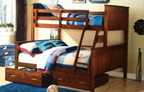 Bunk bed double single  white Or A/oak With Drawers    SOLID NEW