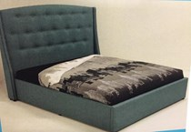 Queen bed with slat base AUSTRALIAN MADE FABRIC