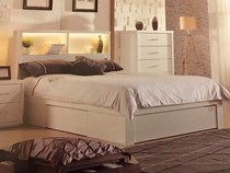 Queen bed room suite 4 pce  white gloss gas lift NEW