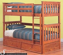 Bunk bed king single with king  single TRUNDLE BED + mattresses   NEW