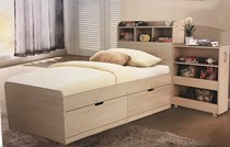 Single bed with storage drawers and pullout cabinet NEW ARRIVAL