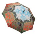 Galleria Monet's Poppy Field Art Automatic Walking Length Umbrella